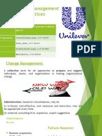 Change management at Unilever