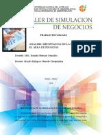 IMPORTANCIA DE LA SIMULACION EN EL AREA DE FINANZAS