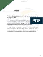 Ambiente de desenvolvimento (Instalação e configuração) - Téc. Informática Senac