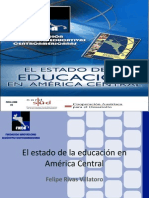 ESTADO DE LA EDUCACION EN AMERICA CENTRAL