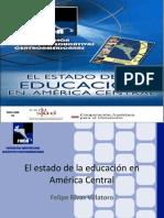 ESTADO DE LA EDUCACION EN AMERICA CENTRAL