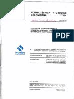 NORMA TECNICA COLOMBIANA ISO IEC 17024
