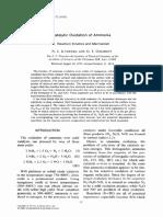 Catalytic Oxidation of Ammonia I reaction Kinetic and Mechanism Ilchenko et al J. Catal. 1975