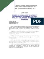 Ley 11237 (Regimen de Acumulacion de Cargos y Funciones)