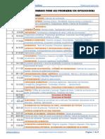 Cronograma de trabajo de problemas para el curso 2020-2021