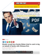 Nypost Com 2020-10-15 Emails Reveal How Hunter Biden Tried to Cash in Big With Chinese Firm