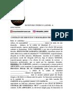 CONTRATO DE SERVICIOS Y HONORARIOS PROFESIONALES