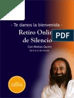 Bienvenida al Curso de Silencio con Matias Quinn