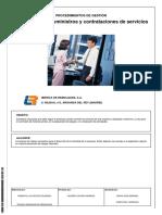 Procedimiento de Gestión Adquisiciones, Suministros y Contrataciones