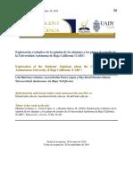 Martínez, Fierro & Román (2016). Exploración evaluativa de la opinión