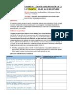INDICACIONES DEL  ÁREA DE COMUNICACIÓN DE LA      SEMANA 27  4º