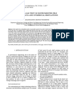 [2083831X - Studia Geotechnica et Mechanica] Static Load Test on Instrumented Pile – Field Data and Numerical Simulations