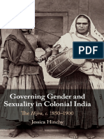 Governing Gender and Sexuality in Colonial India The Hijra , c.1850–1900 by Jessica Hinchy