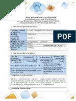 Guía de actividades y rúbrica de evaluación del curso - Paso 3 - Reconocimiento de herramientas teóricas
