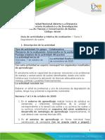 Guia de actividades y Rúbrica de evaluación - Tarea 3 - Degradación de suelos