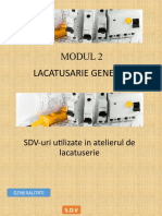 SDV-uri utilizate in atelierul de lacatuserie