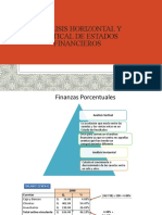 ANALISIS HORIZONTAL Y VERTICAL DE ESTADOS FINANCIEROS