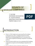 FINAL ACCOUNTS OF BANKING COMPANIES