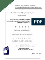 Identificacion y descripcion de riesgos geologicos por hundimiento al poniente de la Ciudad de Mexico (1)