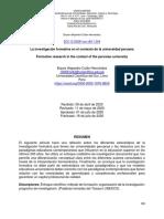 La investigación formativa en el contexto de la universidad peruana