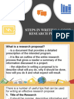 STEPS IN WRITING A GOOD RESEARCH PROPOSALREPORT
