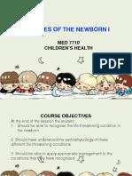 Diseases of the Newborn I