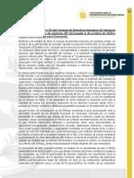 Comisionados Prado y Pizarro, celebran renovación de la Misión de la ONU