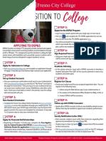 transition to college checklist flyer - final 9