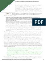 ¿Qué estudia la economía ambiental y cuál es su diferencia con la economía ecológica__ Foro sobre Cambio Climático