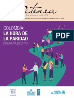 Atenea Colombia-La hora de la paridad - Resumen Ejecutivo