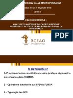 MODULE 2 - ANALYSE SYNOPTIQUE DU  CADRE JURIDIQUE UEMOA ET CEMAC PDF