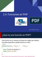 2.4.Funciones en PHP