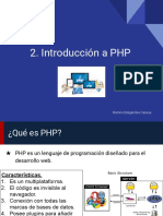 2. Introducción a PHP