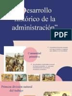 Desarrollo historico de la administracion