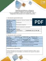 Guía de actividades y rúbrica de evaluación - Fase 3 - Diagnóstico Psicosocial en el contexto educativo.pdf