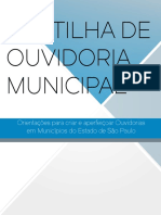 Cartilha de Ouvidoria Municipal