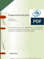 Capacitación de procesos