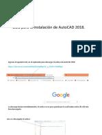 Instalacion de Autocad 2018