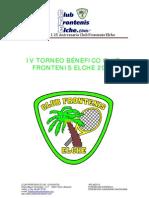 Dosier IV Torneo Benefico de Frontenis. (Autoguardado)
