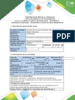 Guía Actividades y rubrica de Evaluación - Actividad 4 - Evaluación Avanzada - Desarrollar Lección de Vías Metabólicas