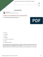 Elementos de la comunicación (Cuáles son, Concepto y Definición) - Significados