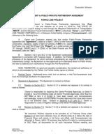 1st Amendment to Public-Private Partnership Agreement - ..