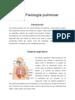 Fisiología de los pulmones
