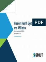 Mission Health Fairness Opinion Presentation to NCDOJ (Redacted)