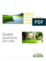 Acron Homes Goa  - Ebrochures