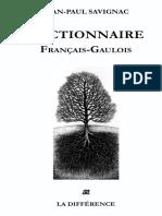 Dictionnaire Francais-Gaulois_Jean-paul Savignac_Editions de La Différence_2014