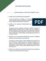 CUESTIONARIO LIBRO PUBLICIDAD