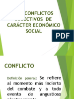 CONFLICTOS COLECTIVOS ECONOMICO SOCIAL