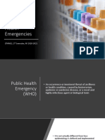 Epidemiology of Public Health Emergencies