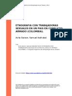 Avila Garzon, Samuel Asdrubal (2014). ETNOGRAFIA CON TRABAJADORAS SEXUALES EN UN PAIS EN CONFLICTO ARMADO (COLOMBIA)